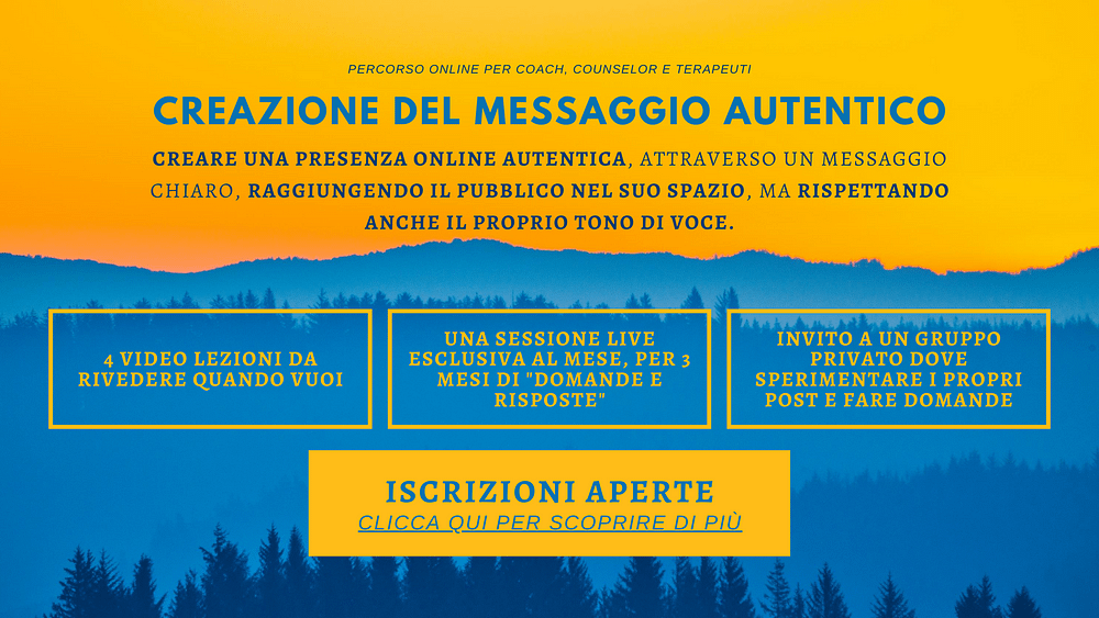 Creazione Messaggio Autentico - Marco Munich Consulente Marketing per Coach, Operatori Olistici e Terapeuti